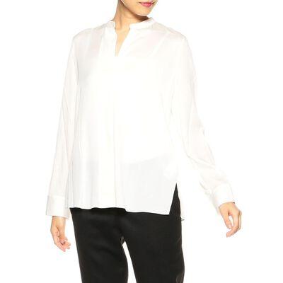 VINCE(ヴィンス)シルクバンドカラーシャツ