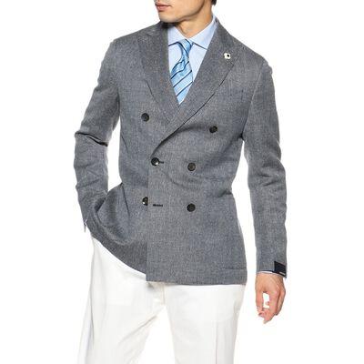 LARDINI(ラルディーニ)ヘリンボーンダブルブレステッドジャケット