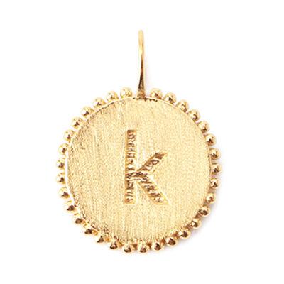 "LA SOEUR(ラ スール)【オーダー品】オンラインストア限定イニシャルペンダントトップ ""k"""