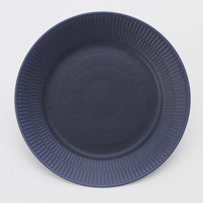 """ROYAL COPENHAGEN(ロイヤル コペンハーゲン)""""BLACK FLUTED"""" プレート (22cm)"""