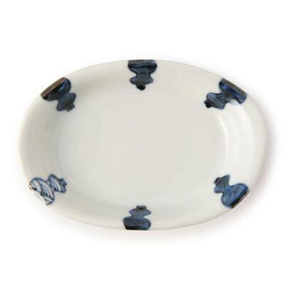 和陶房(ワトウボウ)3.6号楕円皿 (六瓢)