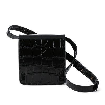 MARGE SHERWOOD(マージシャーウッド)クロコダイル型押しベルトバッグ
