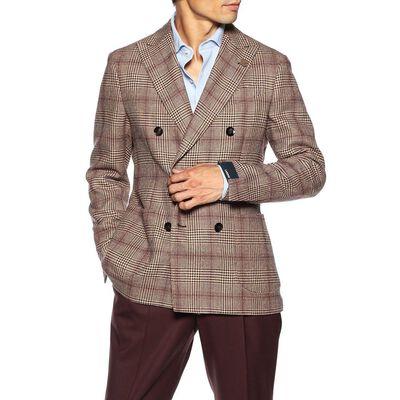 LARDINI(ラルディーニ)グレンチェック柄ダブルブレステッドジャケット