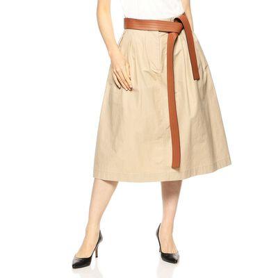 LOEWE(ロエベ)レザーベルト付きフレアスカート