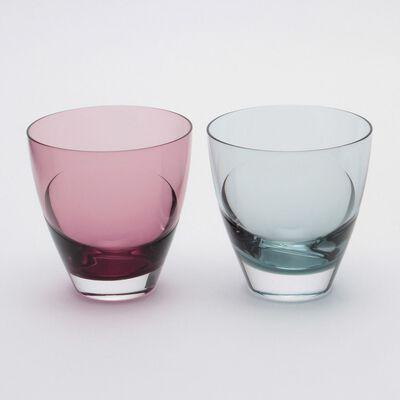 """SGHR(スガハラ)グラスセット """"cascade"""" ワイン&インディゴ"""