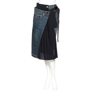 SACAI(サカイ)ハイブリッドデニムスカート