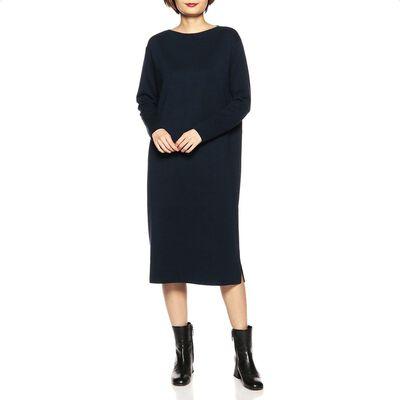BARNEYS NEW YORK(バーニーズ ニューヨーク)ウォッシャブルウールボートネックニットドレス