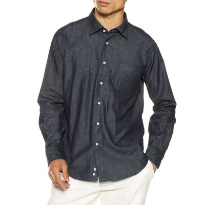 BARNEYS NEW YORK(バーニーズ ニューヨーク)インディゴツイルシャツ