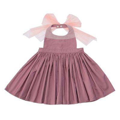 "MARLMARL(マールマール)お食事エプロン ""bouquet"" (rose pink)"