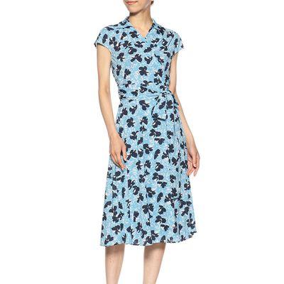 CORCOVADO(コルコバード)ウォッシャブルウエストリボンジャージープリントドレス