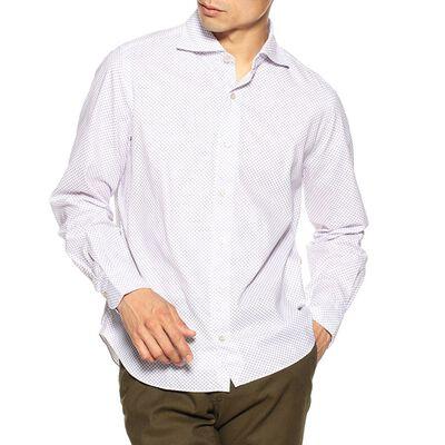 FINAMORE(フィナモレ)小紋柄プリントシャツ