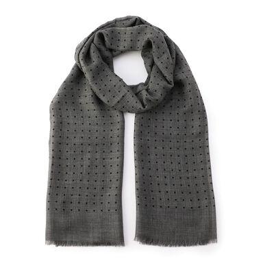 Cashmere Dot Scarf: Grey