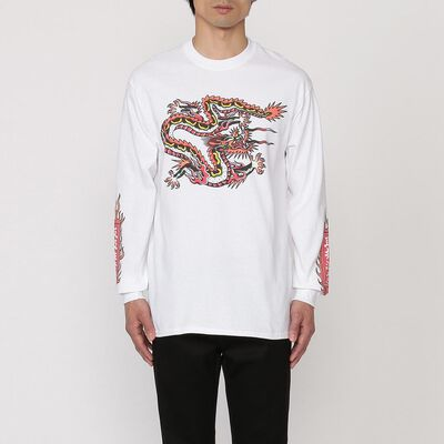 BLACK EYE PATCH(ブラックアイパッチ)プリントロングスリーブTシャツ