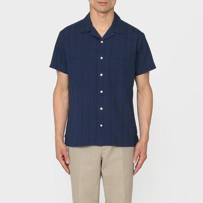 BARNEYS NEW YORK(バーニーズ ニューヨーク)半袖オープンカラーシャツ