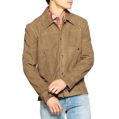 BARNEYS NEW YORK(バーニーズ ニューヨーク)スエードシャツジャケット