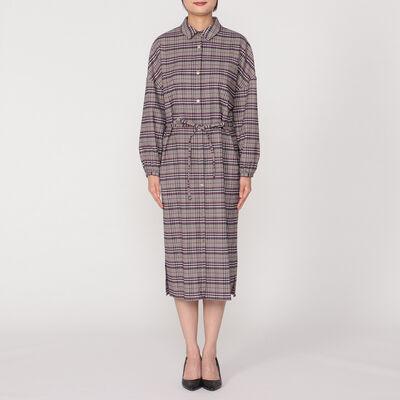 BARNEYS NEW YORK(バーニーズ ニューヨーク)タータンチェック柄シャツドレス