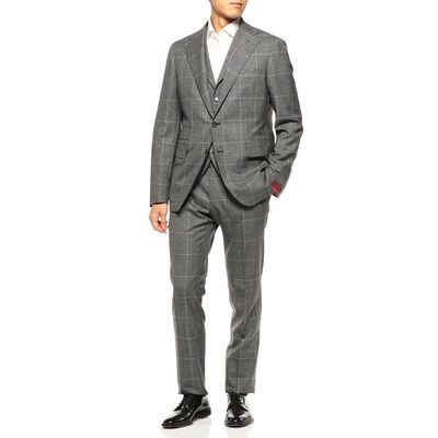 TAGLIATORE(タリアトーレ)グレンチェック柄3ピーススーツ