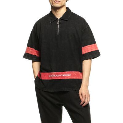 UGC(ユージーシー)ハーフジップポロシャツ