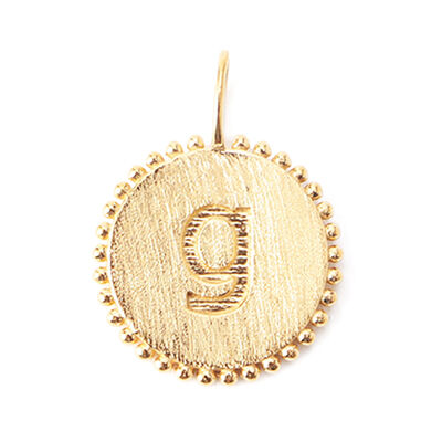 "LA SOEUR(ラ スール)【オーダー品】オンラインストア限定イニシャルペンダントトップ ""g"""