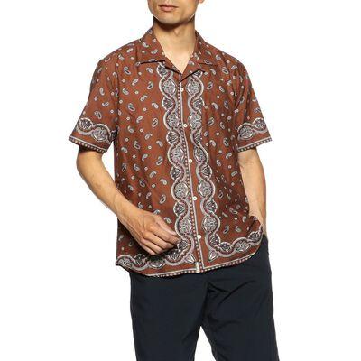 TINTORIA MATTEIバンダナ柄オープンカラーシャツ