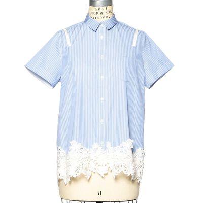 SACAI(サカイ)フラワーレースシャツ