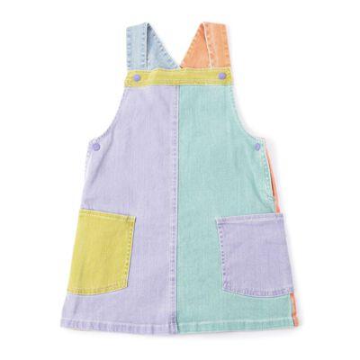 STELLA McCARTNEY(ステラ マッカートニー)カラーブロックデニムジャンパースカート